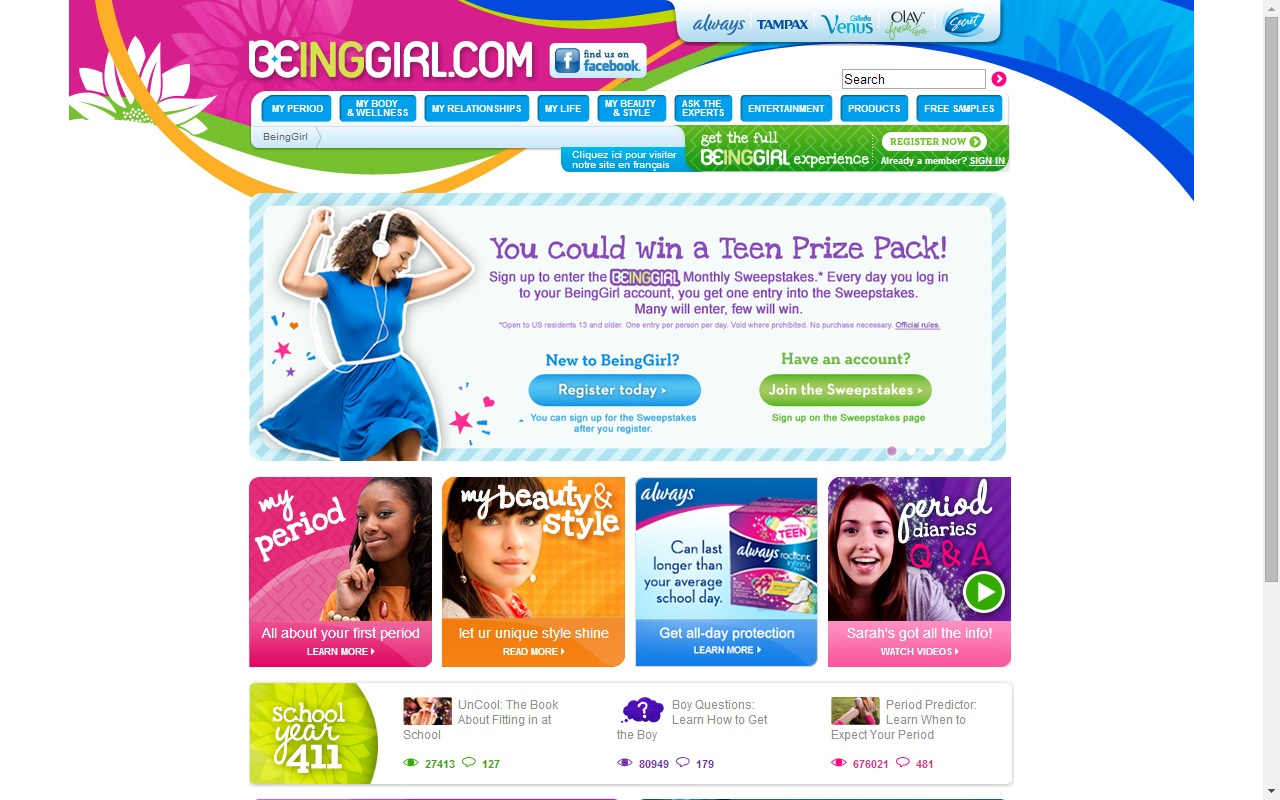 Digital Marketing - P&G's Being Girl